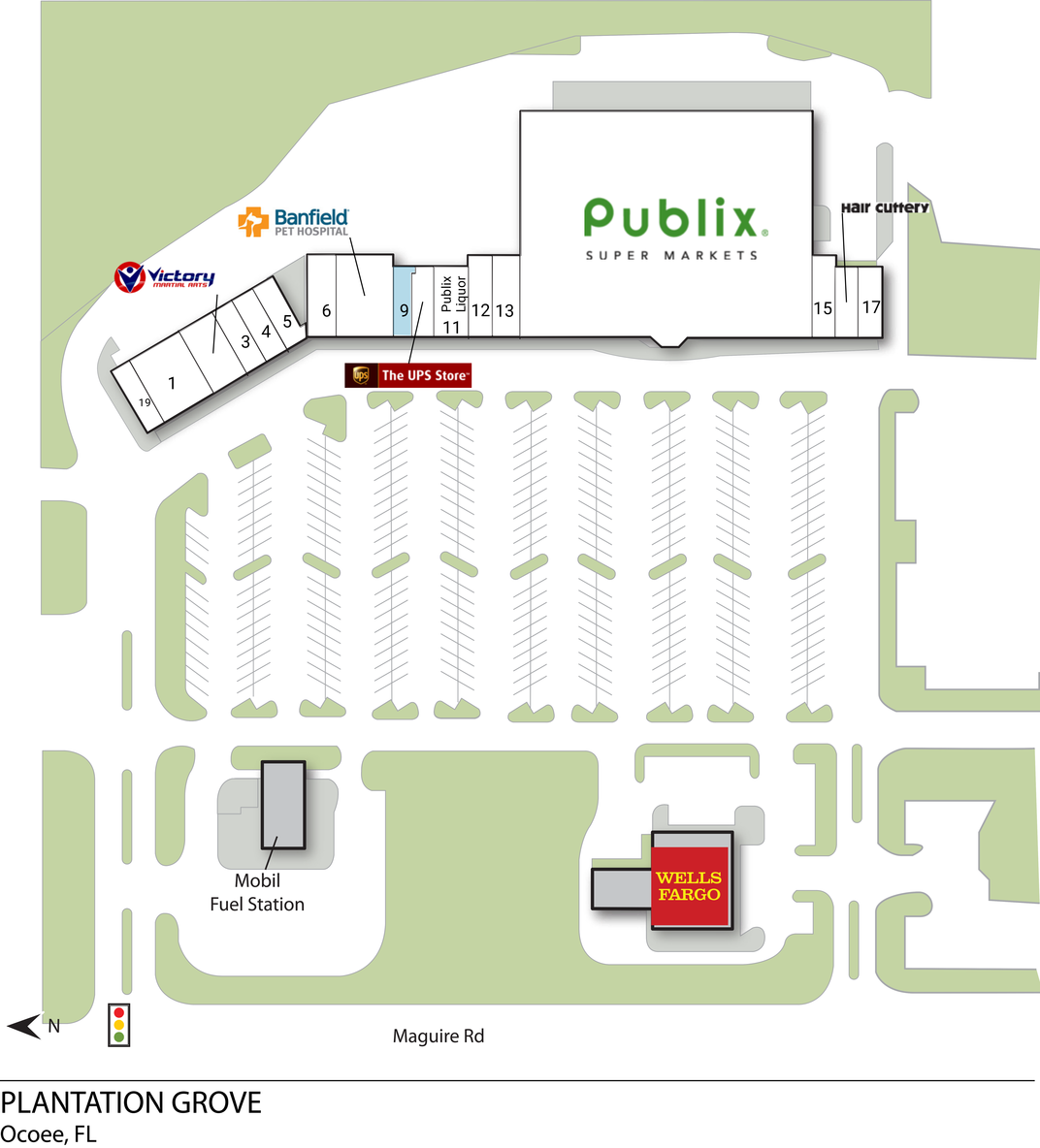Ocoee FL: Plantation Grove - Retail Space - InvenTrust