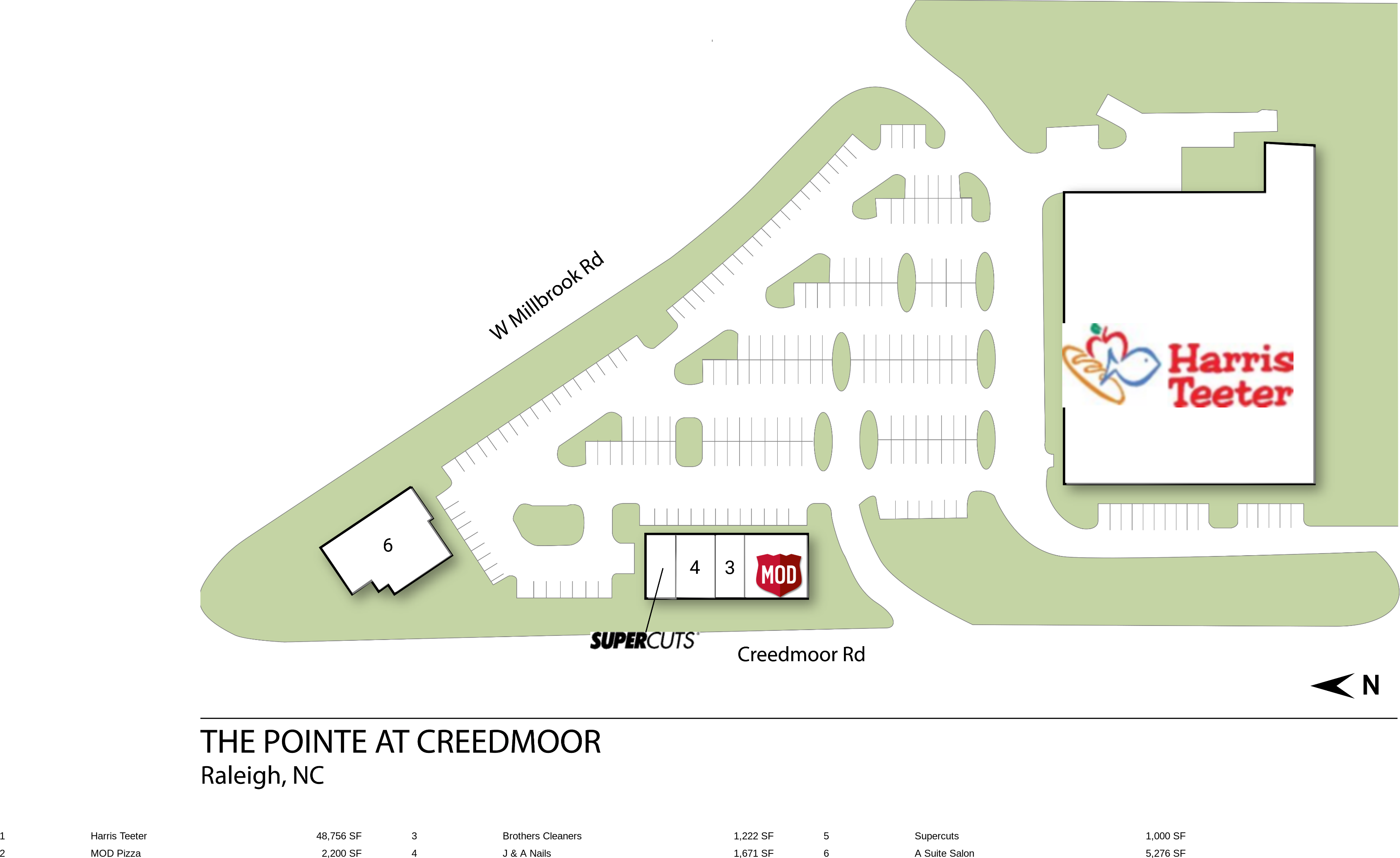 Raleigh NC: The Pointe at Creedmoor - Retail Space - InvenTrust
