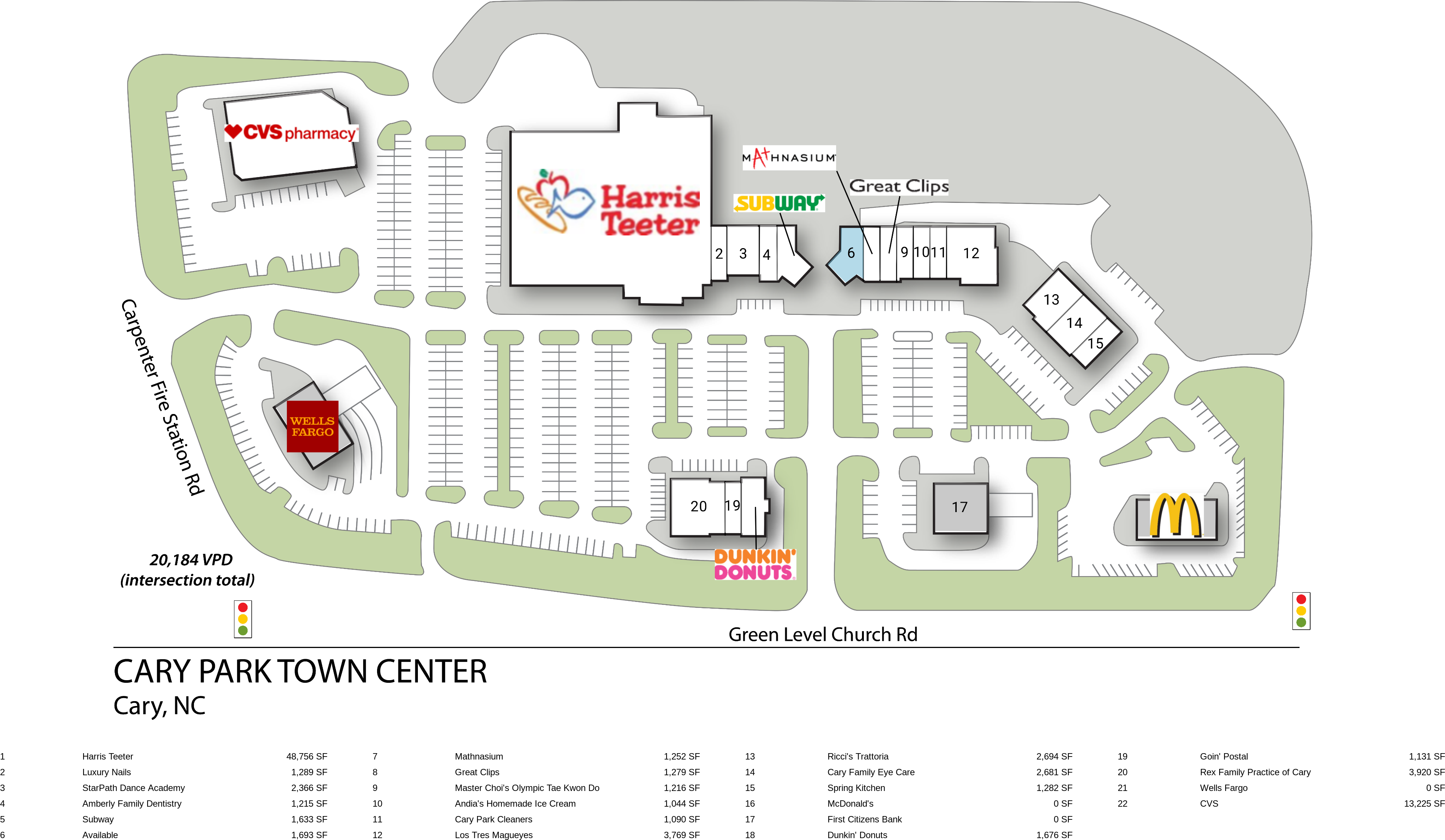 Cary NC: Cary Park Town Center - Retail Space - InvenTrust