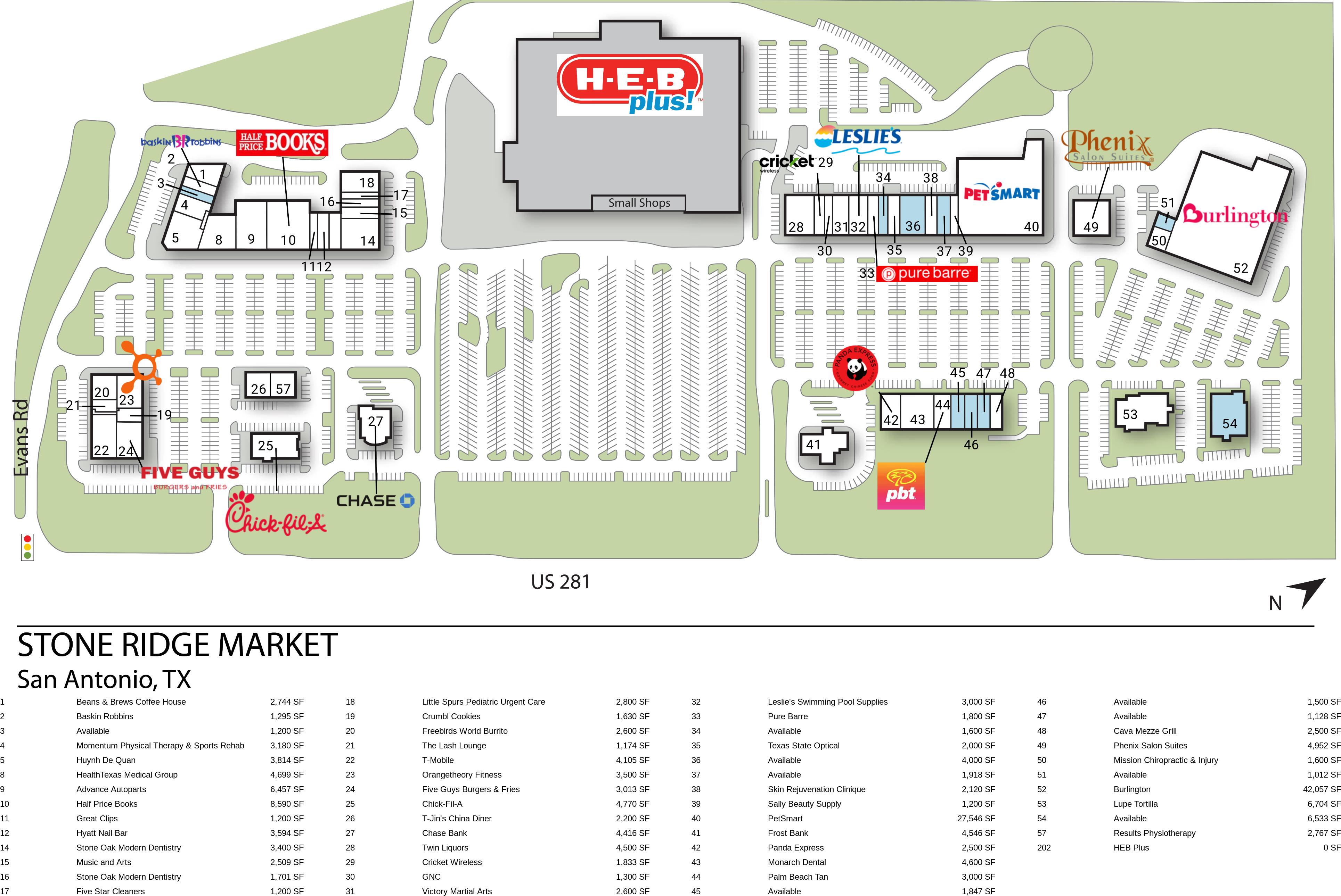 San Antonio TX: Stone Ridge Market - Retail Space - InvenTrust