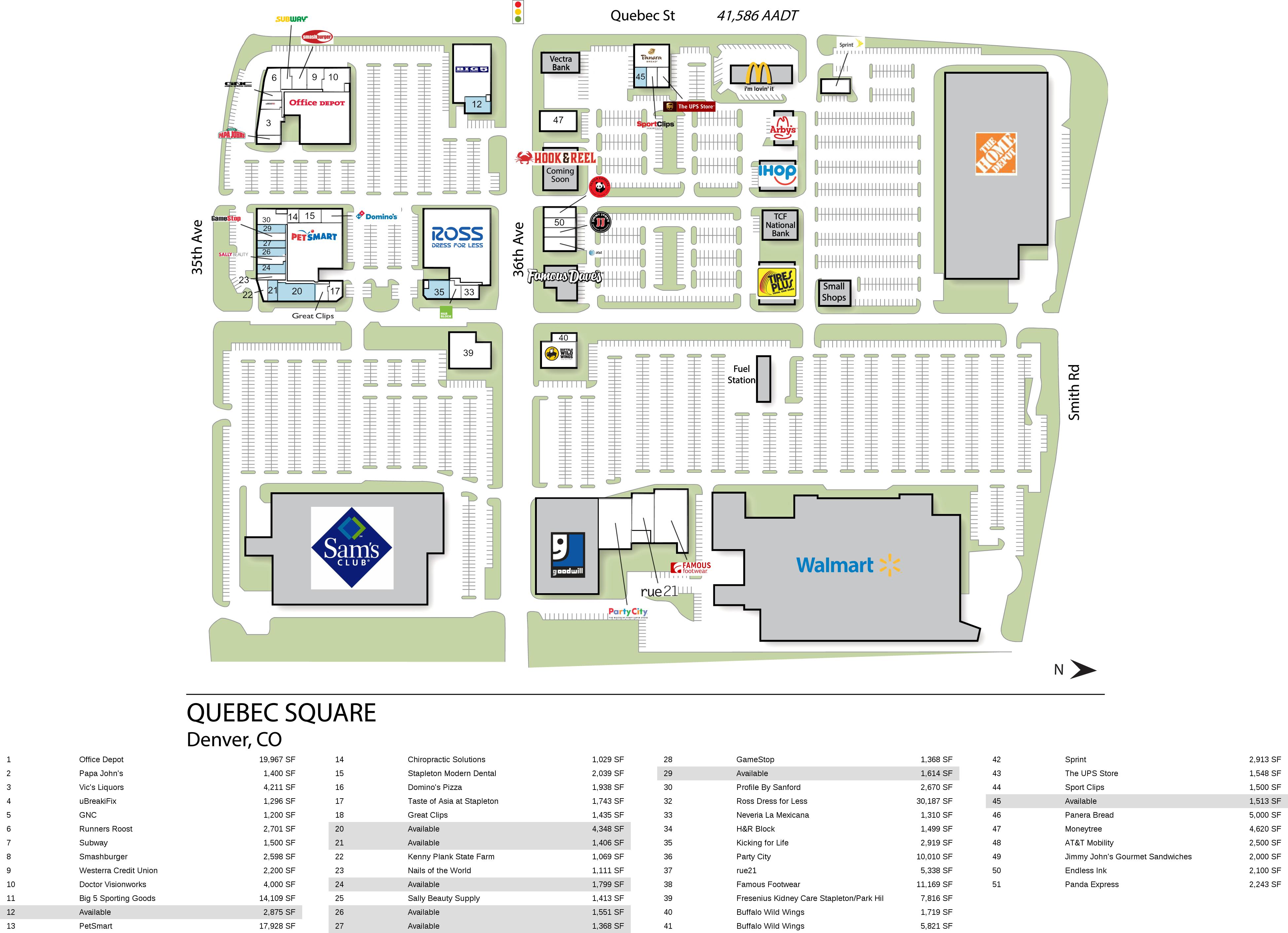 Denver CO: Quebec Square - Retail Space - InvenTrust