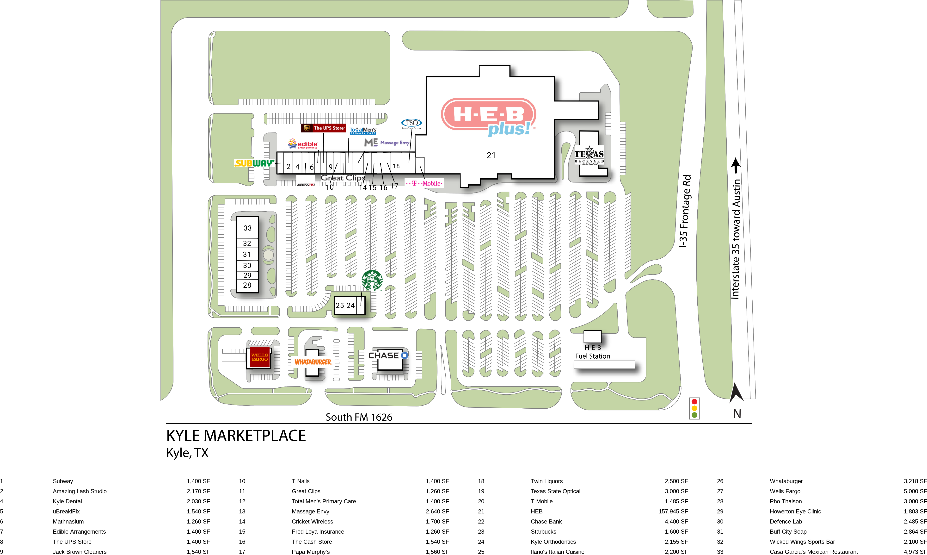 Map Of Texas Kyle.Kyle Tx Kyle Marketplace Retail Space Inventrust